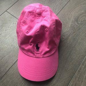Pink Polo Ralph Lauren baseball cap